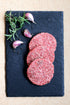 ground beef burger patties raw