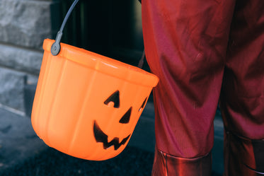 halloween trick or treat pumpkin bucket