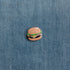 hamburger enamel pin denim