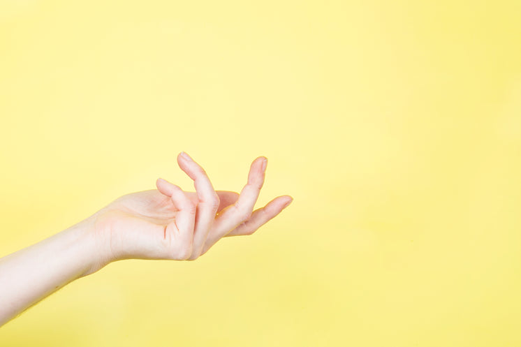 Hand Open Up On Yellow