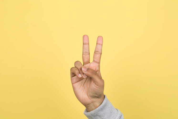Hand With Two Fingers Up Peace
