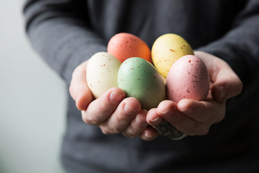 handful of colorful easter eggs