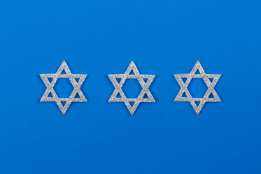 hanukkah star on blue