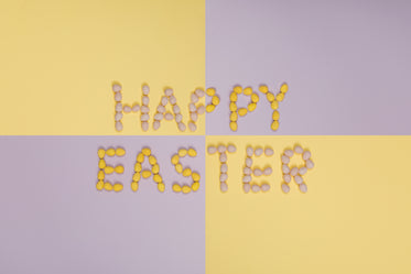 happy easter purple and yellow