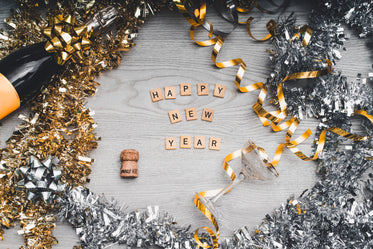 High Res Happy New Year Flatlay Picture — Free Images