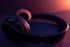 High Res Headphones In An Orange Glow Picture — Free Images