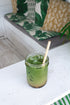 healthy green juice on ice