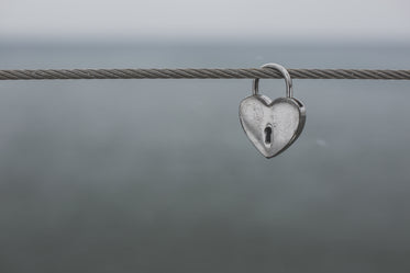 heart shaped lock on wire
