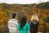 hiker friends enjoy autumn views