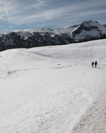 hikers on a snow trail