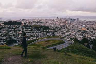 hiking beside san francisco