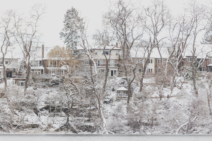 Hillside Homes Dusted With Snow