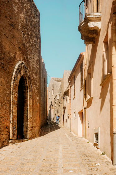 historical alley with arch doorway