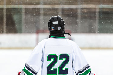 hockey in the snow