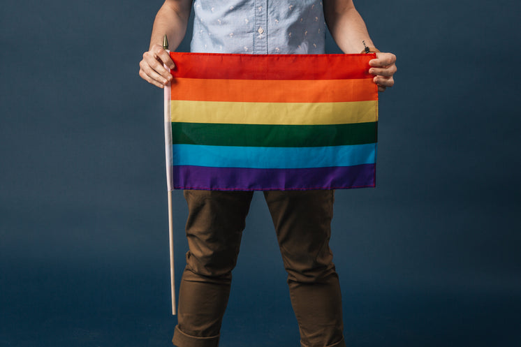 Holding A Small Pride Flag