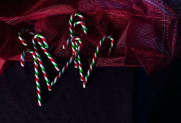 holiday candy canes with decor