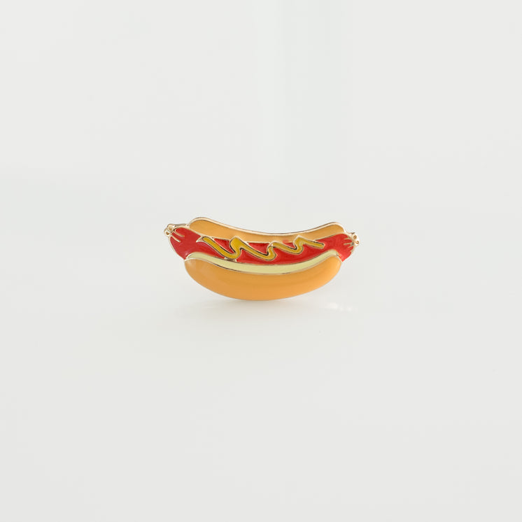 Hotdog Hard Enamel Lapel Pin