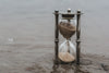 hourglass time keeper in water