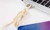 gold lightning cable for iphone