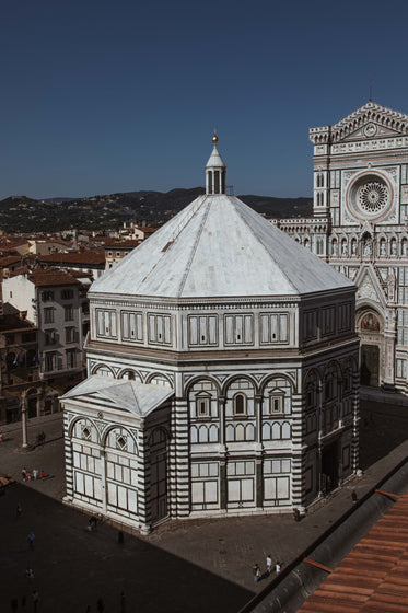 italian cathedral under deep blue sky