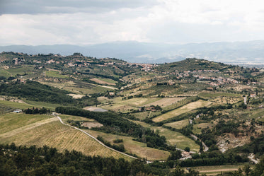 italian landscape in all shades of green