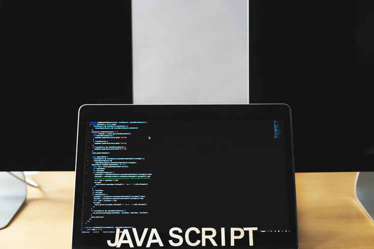 Javascript Code On Laptop Screen