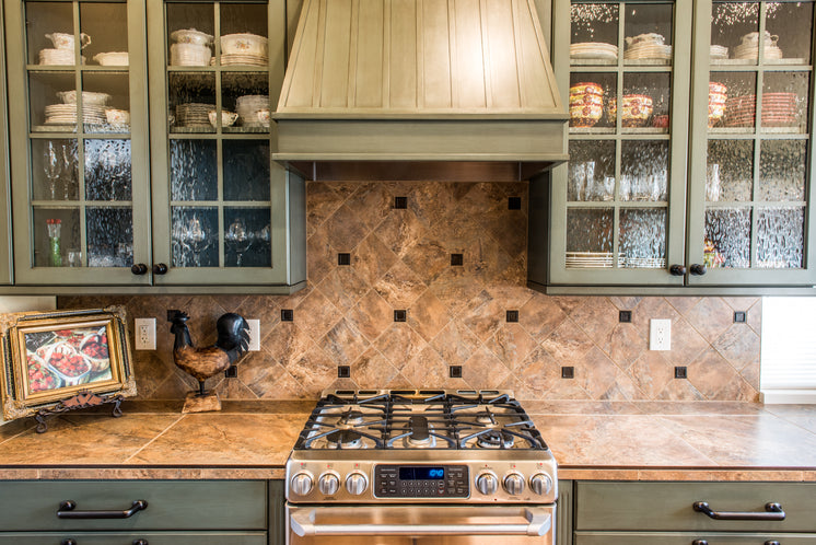Kitchen Counter And Cabinets