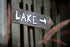 lake this way sign