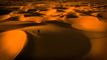 Landscape Of Sand Dunes With Photographer In View