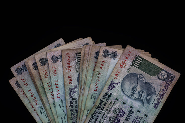Landscape View Of Currency On A Black Background