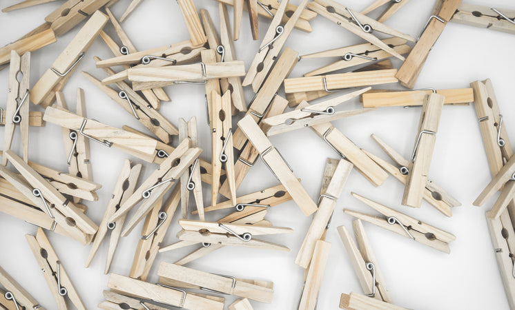 Large Cluster Of Clothespins