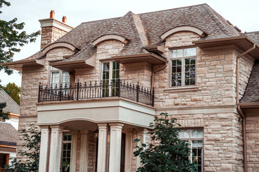 large house with balcony