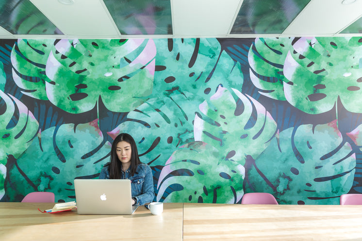 Leaf Wall Mural Office