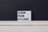 learn from failure sign