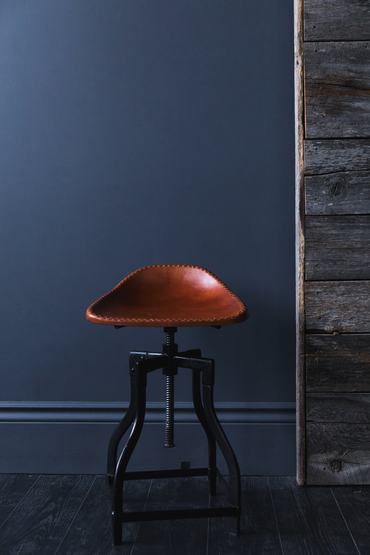 Leather Seat Stool