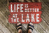 life is better at the lake doormat