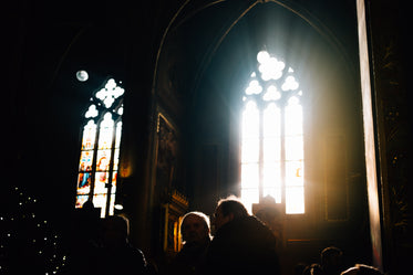 light enters cathedral windows
