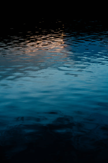 light reflects on water