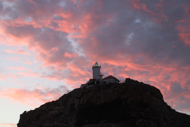 lighthouse on summers eve