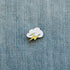 lightning bolt enamel pin denim