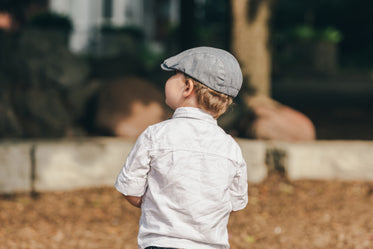 little boy in cool hat