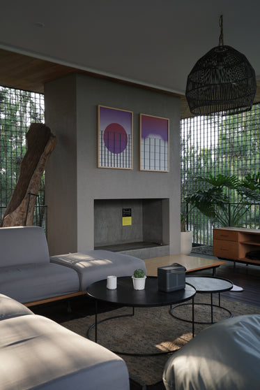living room bathed in natural light through a window