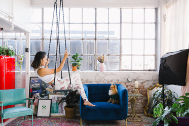 loft chic living with puppy