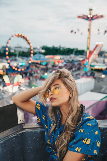 long blonde hair at carnival
