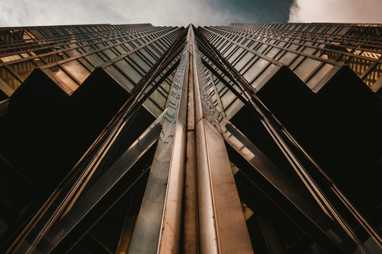 Looking Up Gold Glass Building