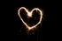 love heart drawn in lights