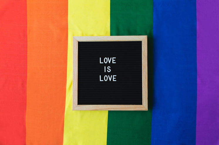 Love Is Love With Pride Flag