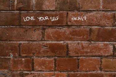 love message on brick wall
