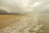 High Res Low Clouds Along Sandy Beach Picture — Free Images