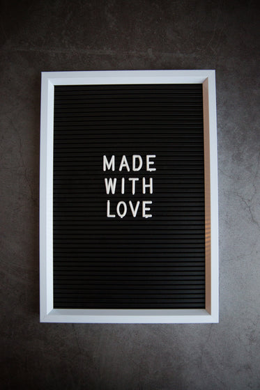 made with love letter board